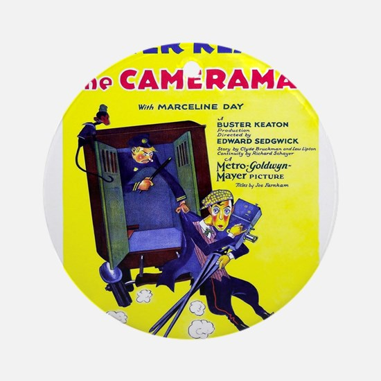 Vintage poster - The Cameraman Round Ornament