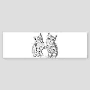 Tabby kittens Sticker (Bumper)