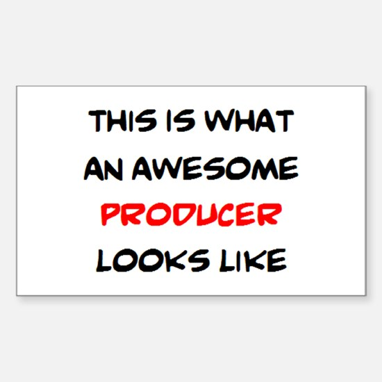 awesome producer Sticker (Rectangle)