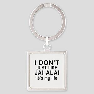 Jai Alai It Is My Life Square Keychain