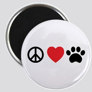 Peace Love Paw Magnets