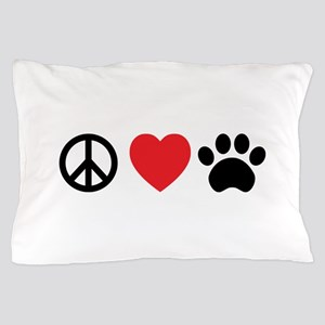 Peace Love Paw Pillow Case