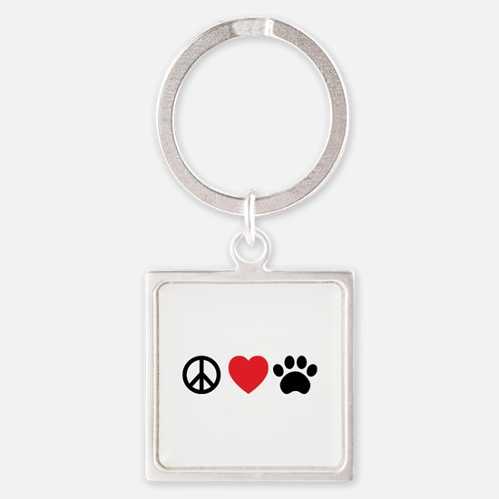 Peace Love Paw Keychains