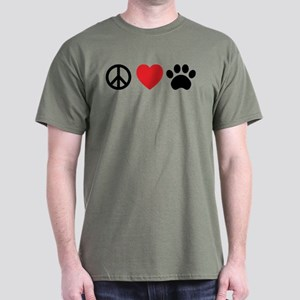 Peace Love Paw T-Shirt