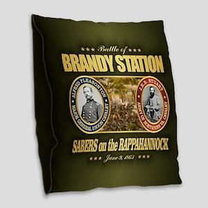 Brandy Station Burlap Throw Pillow