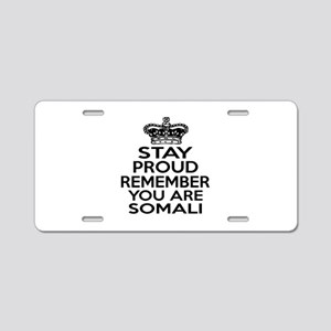 Stay Proud Remember You Are Aluminum License Plate