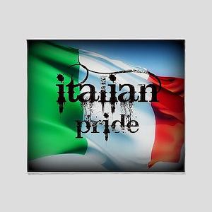 Italian Pride Flag Throw Blanket