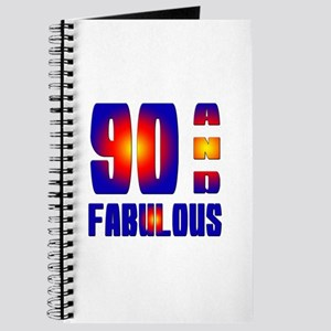 90 and fabulous Birthday Designs Journal