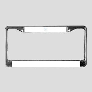 Half Three Quarters Three Quar License Plate Frame