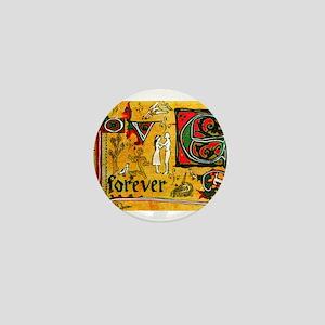 Medieval Love Forever Mini Button