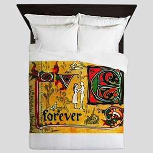 Medieval Love Forever Queen Duvet