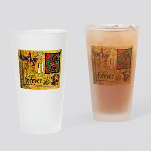 Medieval Love Forever Drinking Glass