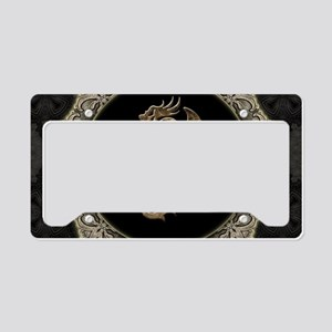 Wonderful dragon, vintage background License Plate