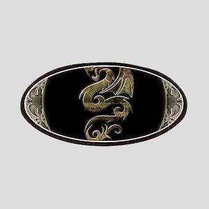 Wonderful dragon, vintage background Patch