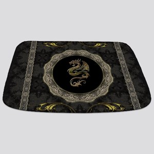 Wonderful dragon, vintage background Bathmat