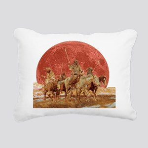 Hunting Party Blood Moon Rectangular Canvas Pillow