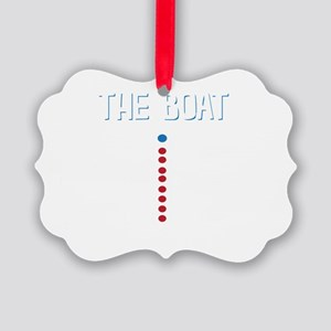 The Real Parts Of The Boat Picture Ornament