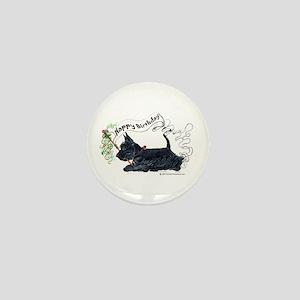 Scottish Terrier Birthday Dog Mini Button