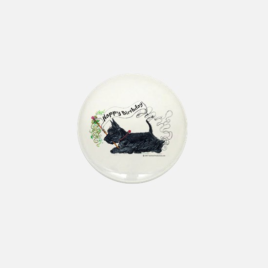 Scottish Terrier Birthday Dog Mini Button