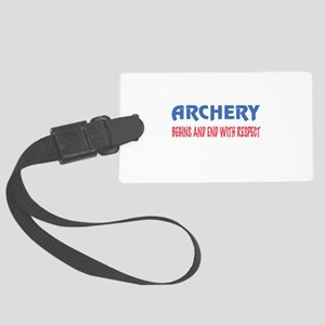 Archery Begins and end with resp Large Luggage Tag