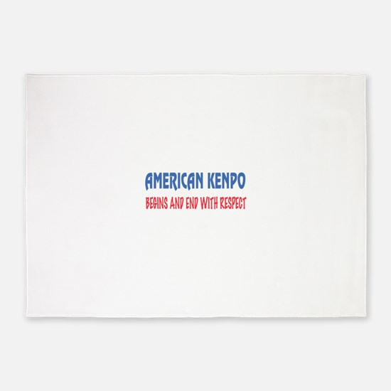 American Kenpo Begins and end with 5'x7'Area Rug