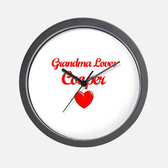 Grandma Loves Cooper Wall Clock
