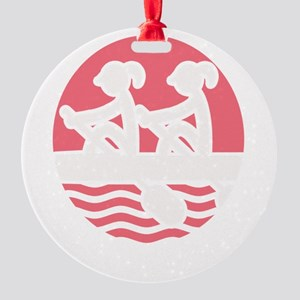 Rowing Girlz Round Ornament