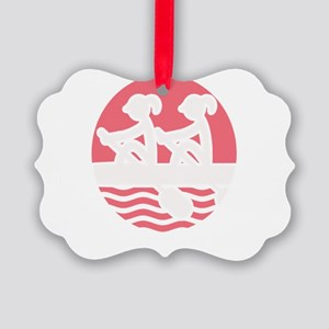 Rowing Girlz Picture Ornament