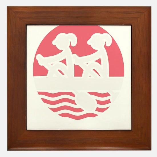 Rowing Girlz Framed Tile
