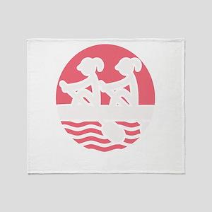 Rowing Girlz Throw Blanket