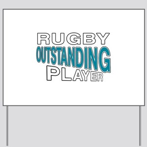 Rugby Outstanding Player Yard Sign