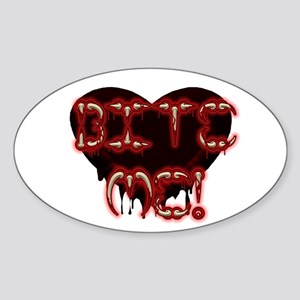 Bite Me! (Goth-ish Oval Sticker