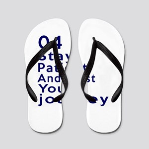 Awesome 04 Birthday Designs Flip Flops