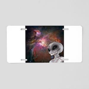 Nebula & Gray Aluminum License Plate