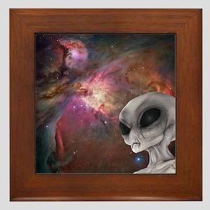 Nebula & Gray Framed Tile