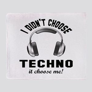 I didn't choose Techno Throw Blanket