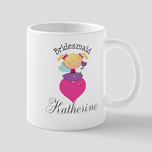 Personalized Bridesmaid Bridal Party Mugs
