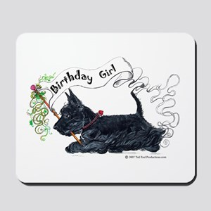Scottie Girl Birthday Mousepad