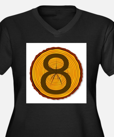 Number Eight Log Plus Size T-Shirt
