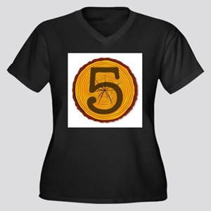 Number Five Log Plus Size T-Shirt