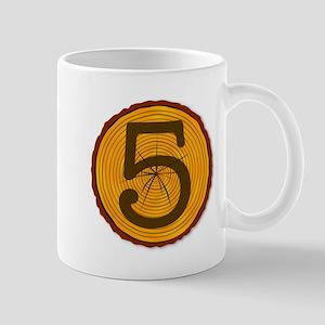 Number Five Log Mugs