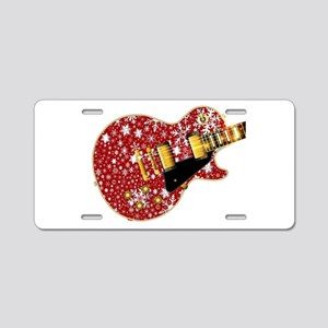 Christmas Snowflake Red Gui Aluminum License Plate