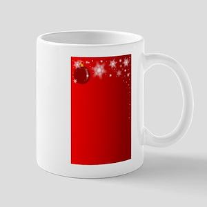 Christmas Red Background Mugs