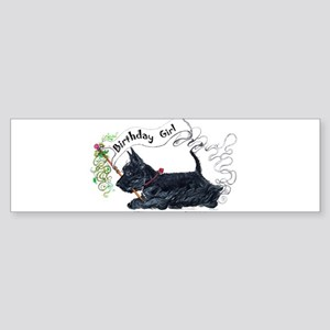 Scottie Girl Birthday Bumper Sticker