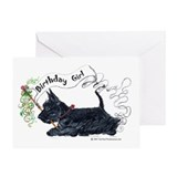 Scottie birthday Greeting Cards
