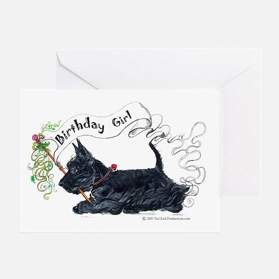 Scottie Girl Birthday Greeting Card