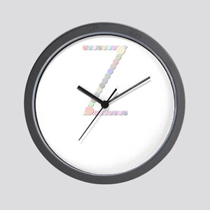 """Letter """"Z"""" (Candies) Wall Clock"""