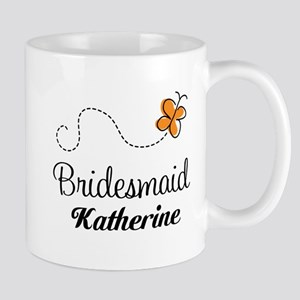 Bridesmaid Butterfly Personalized Mugs