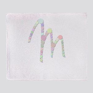 """Letter """"M"""" (Candies) Throw Blanket"""