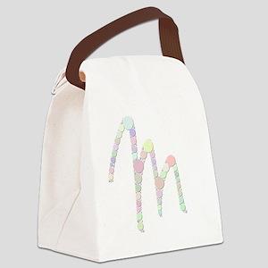 "Letter ""M"" (Candies) Canvas Lunch Bag"
